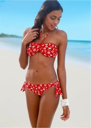 Bikinihose, bpc bonprix collection, rot bedruckt