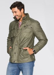 Fieldjacke beschichtet Regular Fit, bpc bonprix collection, dunkeloliv