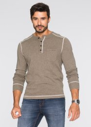 Pullover Regular Fit, bpc bonprix collection, indigo meliert