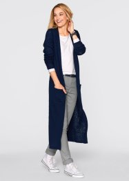 Maxi-Strickjacke mit langen Ärmeln, bpc bonprix collection, dunkelblau