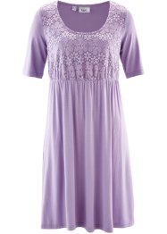 Robe en jersey mi-manches à dentelle, bpc bonprix collection, lilas