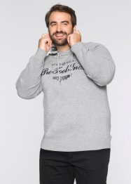 Pullover m. Kapuze Regular Fit, bpc bonprix collection, hellgrau meliert