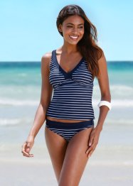 Tankini Oberteil, bpc bonprix collection, dunkelblau/weiss