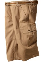3/4 Hose inkl. Gürtel Loose Fit, bpc bonprix collection, mattcamel