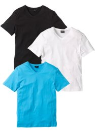 V-T-Shirt (3er-Pack), bpc bonprix collection