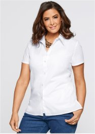 Kurzarm-Bluse, bpc selection, weiss