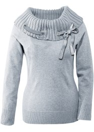 Pull, BODYFLIRT, gris clair chiné