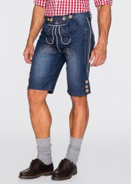 Trachten-Jeansbermuda Regular Fit, bpc selection, blue stone