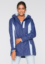 3-in-1-Outdoorjacke, bpc bonprix collection, mitternachtsblau/hellblau