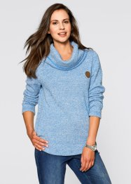 Sweatshirt, bpc bonprix collection, azurblau meliert