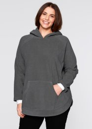 Fleece-Poncho-Pullover, bpc bonprix collection, wollweiss