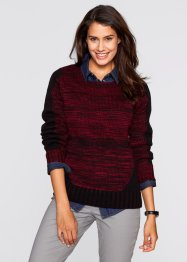 Langarmpullover, bpc bonprix collection, ahornrot meliert
