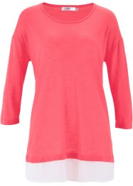 2-in-1-Flammgarn-Pullover, bpc bonprix collection, hellpink