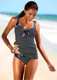 Tankini (2-tlg. Set), bpc bonprix collection, schwarz/weiss
