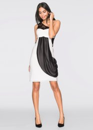 One-Shoulder-Kleid, BODYFLIRT, creme/schwarz