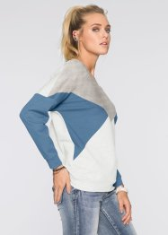 Sweatshirt, RAINBOW, grau/blau/wollweiss