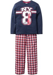 Pyjama (2-tlg. Set), bpc bonprix collection, dunkelblau
