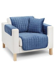 "Sofaüberwurf  ""Fleece"", bpc living, blau"