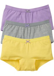 Lot de 3 culottes, bpc bonprix collection, gris clair chiné/lilas/citron clair