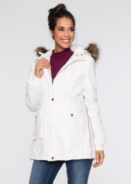 Umstandsjacke mit Kapuze, bpc bonprix collection, wollweiss