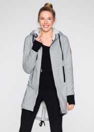 Gilet sweat avec doublure polaire, bpc bonprix collection, gris clair chiné