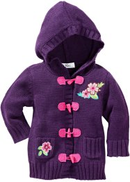 Strickjacke, bpc bonprix collection, dunkellila