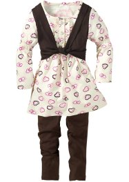 Robe + gilet + legging (Ens. 3 pces.), bpc bonprix collection