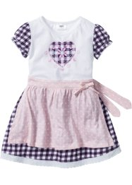 Dirndlkleid (2-tlg. Set), bpc bonprix collection, dunkellila/zartrosa