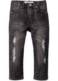 Jeans im Destroyed-Look, John Baner JEANSWEAR, anthracite denim used