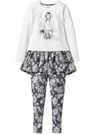 """VIOLETTA"" Longshirt + Leggings (2-tlg. Set), Disney, wollweiss/rauchgrau"