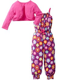 Jumpsuit+Bolero Jacke (2-tlg. Set), bpc bonprix collection, pfingstrose bedruckt+pink