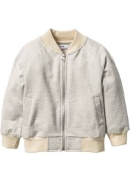 Sweatjacke, bpc bonprix collection, naturmeliert/beige