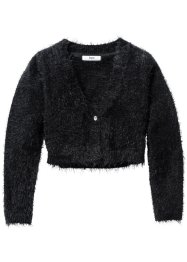 Flauschiger Cardigan, bpc bonprix collection, schwarz