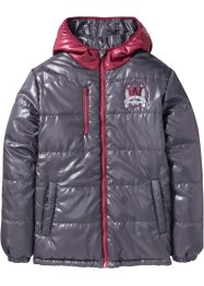 Wendesteppjacke, bpc bonprix collection, schiefergrau/bordeaux
