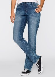 Figurformende Stretch-Jeans im Used-Look, bpc bonprix collection, black stone used