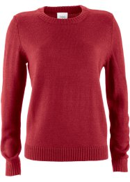 Rundhals-Pullover, bpc bonprix collection, chillirot