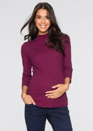 Umstandsshirt mit Mini-Turtleneck, 3/4-Arm, bpc bonprix collection