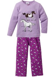 Pyjama (2-tlg. Set), bpc bonprix collection, veilchenflieder/pfingstrose