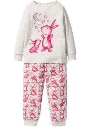 Pyjama (2-tlg. Set), bpc bonprix collection, naturmeliert/pink