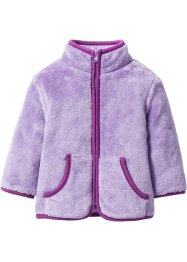 Baby Teddy-Fleece-Jacke, bpc bonprix collection, flieder