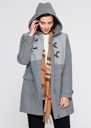 Duffle-coat à capuche, bpc bonprix collection, gris chiné