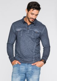 Langarmpoloshirt Regular Fit, bpc bonprix collection, ahornrot