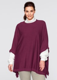 Poncho-Pullover, bpc bonprix collection, wollweiss