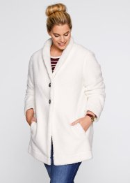 Longjacke in Teddyoptik, bpc bonprix collection, wollweiss