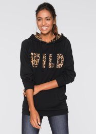 Leichtes Sweatshirt, bpc bonprix collection, leopard schwarz