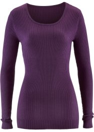 Pull col rond, bpc bonprix collection, myrtille