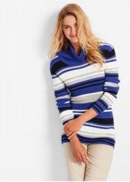 Rollkragen-Pullover, bpc bonprix collection, saphirblau