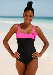 Badeanzug, bpc bonprix collection, schwarz/pink