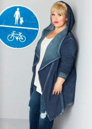 Sweatjacke, Langarm - designt von Maite Kelly, bpc bonprix collection, silbergrau