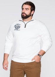 Troyer-Sweatshirt Regular Fit, bpc selection, weiss